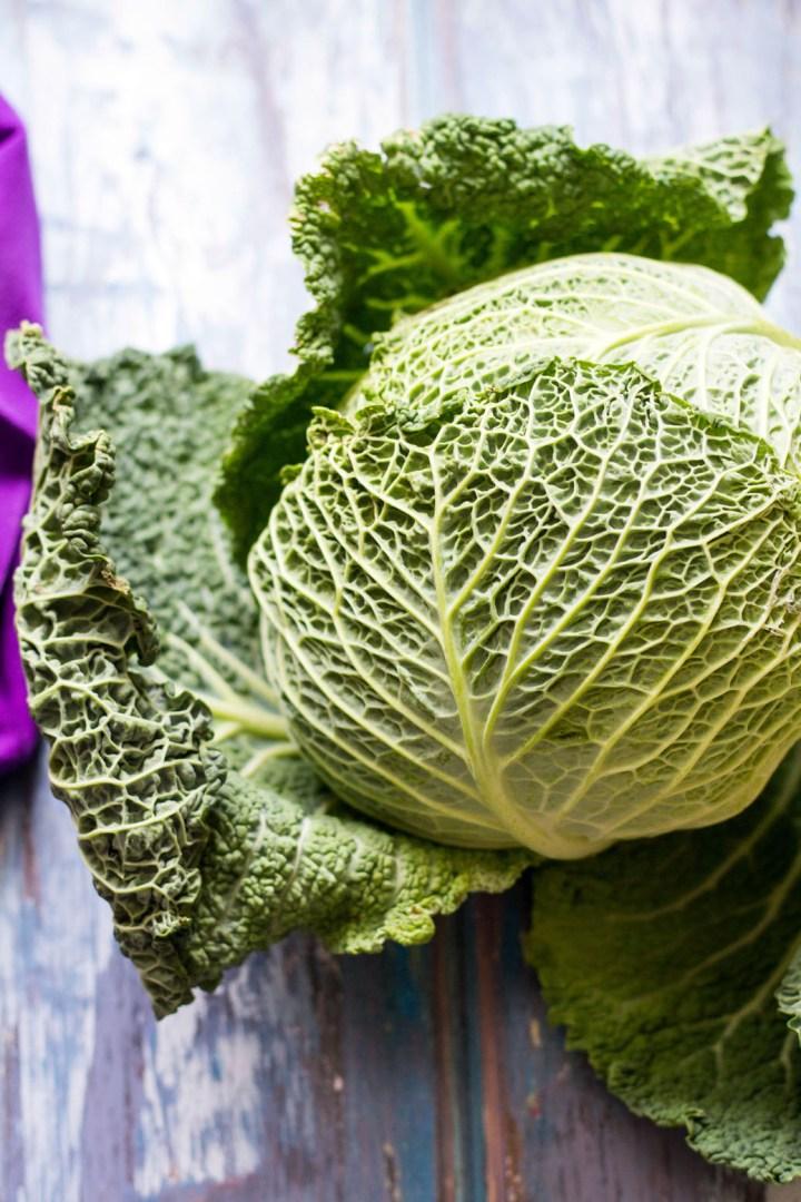 Braised Savoy Cabbage-savoy cabbage