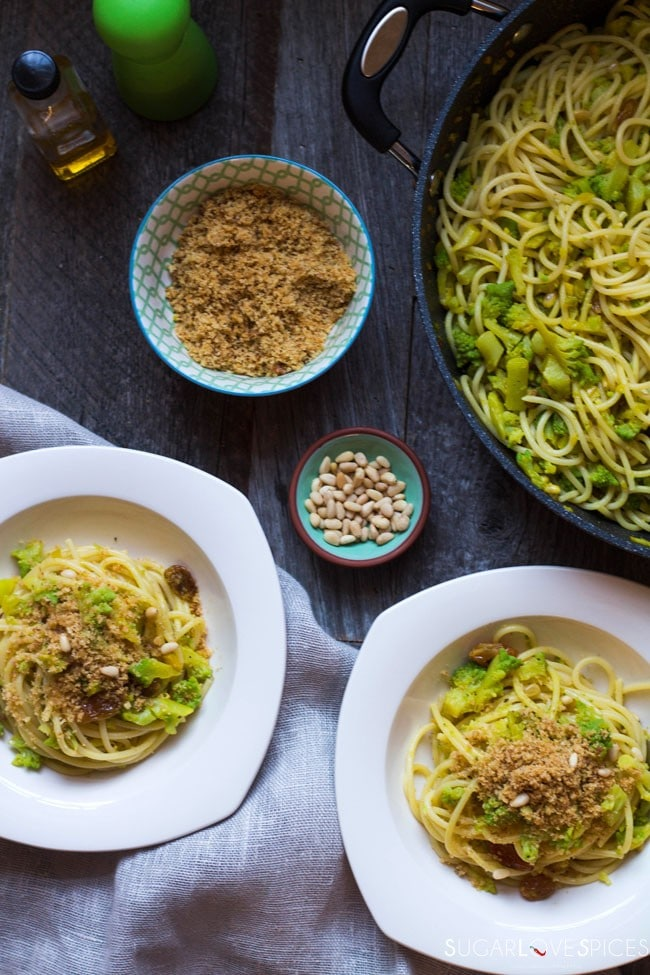 Spaghetti with Broccoli Sicilian-style