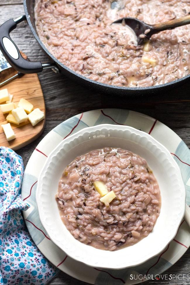 classic italian risotto with radicchio and taleggio