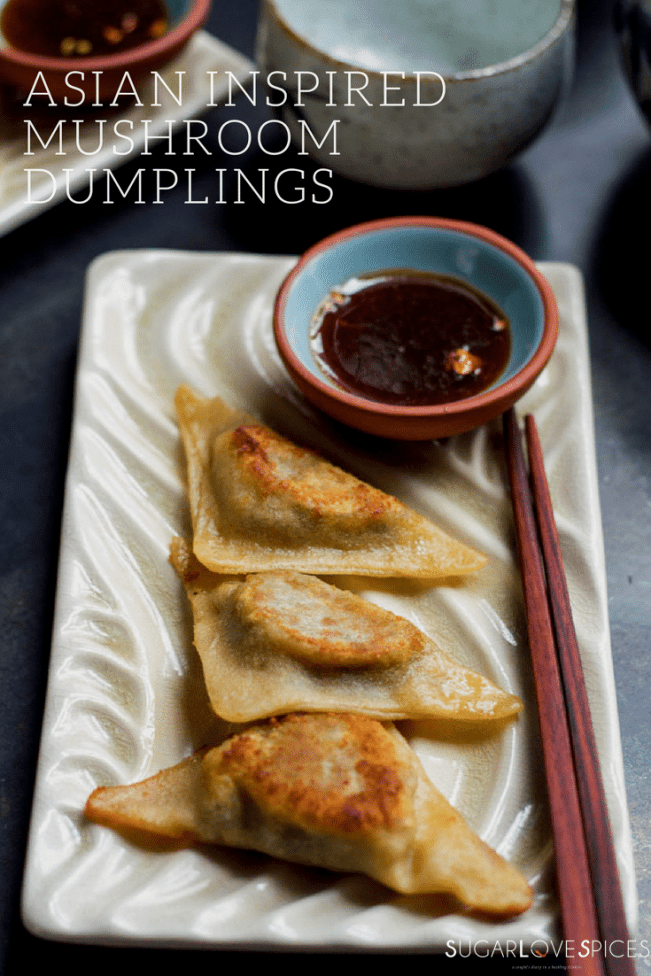 Asian inspired Mushroom Dumplings