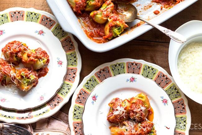 Kale Squash & Ricotta Stuffed Lumaconi