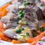 Milk braised Pork Shoulder with Carrots