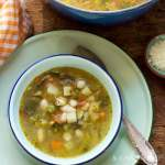 Minestrone with Cannellini beans and pesto