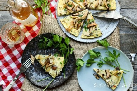 Mushromm Frittata with Truffle cheese-fromthetop