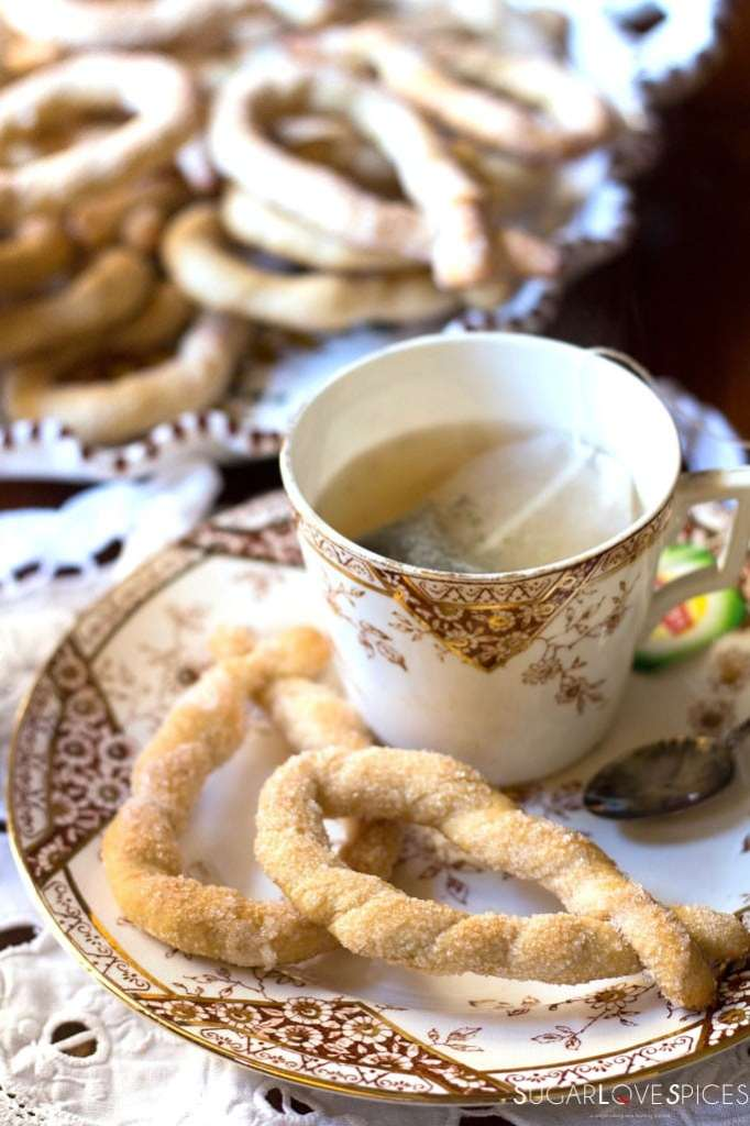 Torcetti Italian Twisted Butter Cookies-tea time
