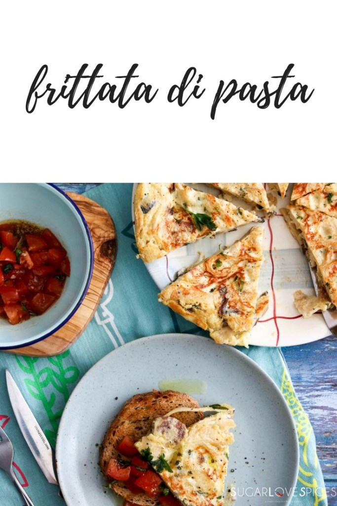 Frittata di Pasta a great way to use leftover pasta