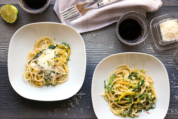 Lime and Ricotta Courgettes Pasta