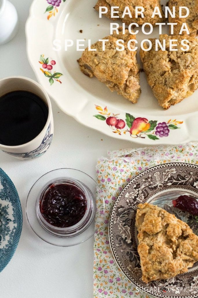 Pear and Ricotta Spelt Scones