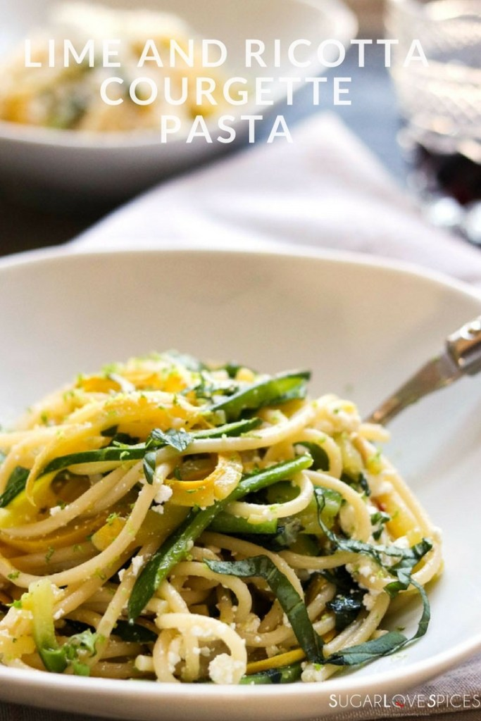 lime and ricotta courgette pasta