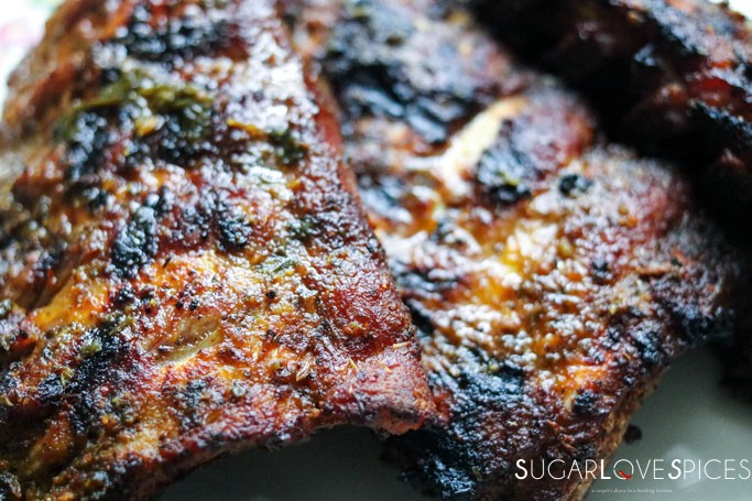 Dry rubbed Pressure Cooked and Grilled Ribs