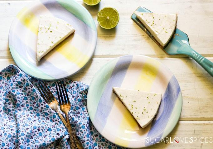 No Bake Lime Cheesecake with Greek yogurt and Mascarpone