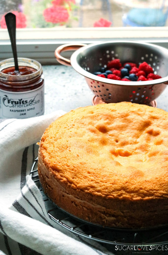 Torta Paradiso with Summer Berries and Jam-outoftheoven