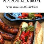 Panino Salsiccia e Peperoni alla Brace