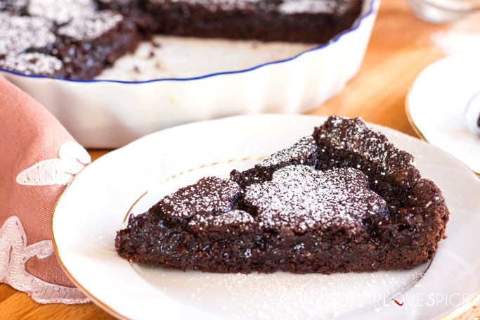 Double chocolate cherry crostata