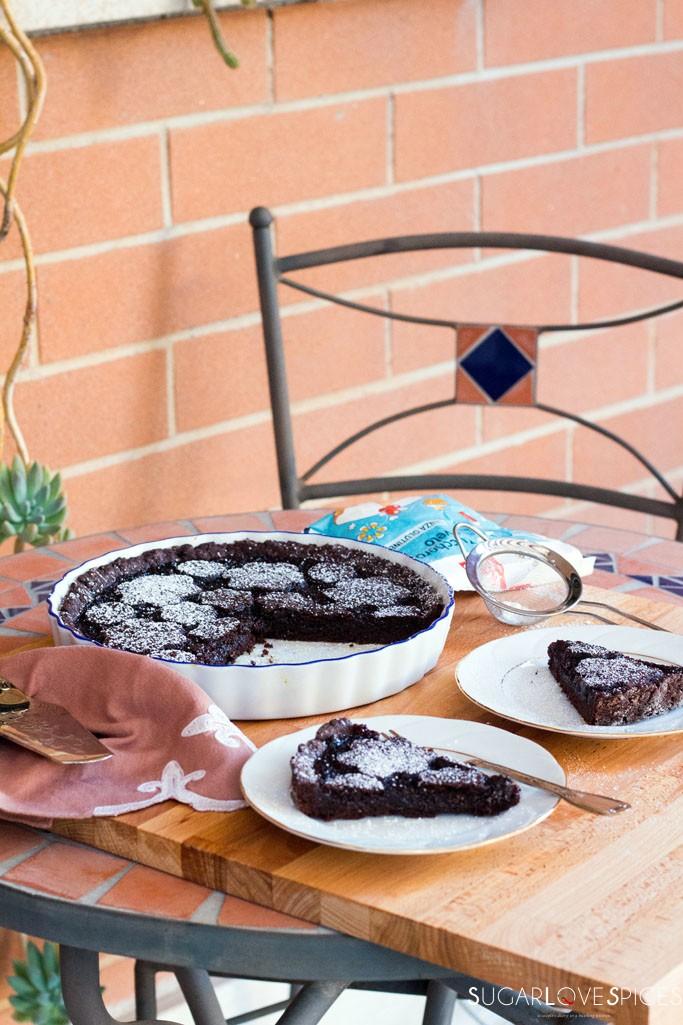 Double chocolate cherry crostata