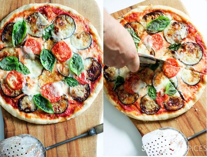 Eggplant Parmigiana Pizza