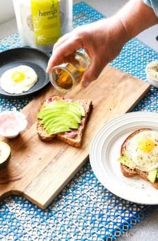 Avocado Egg Toast with Hemp Seeds-oil