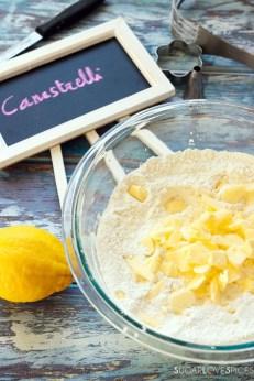 Canestrelli, Italian Shortbread Cookies-butter