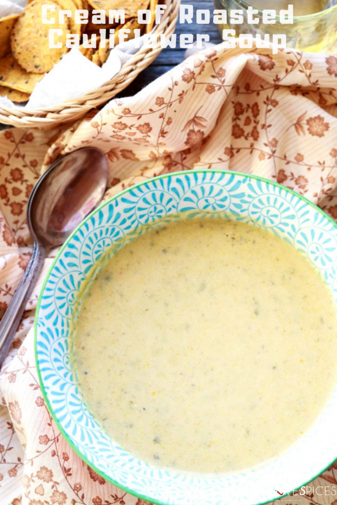 Cream of roasted cauliflower soup