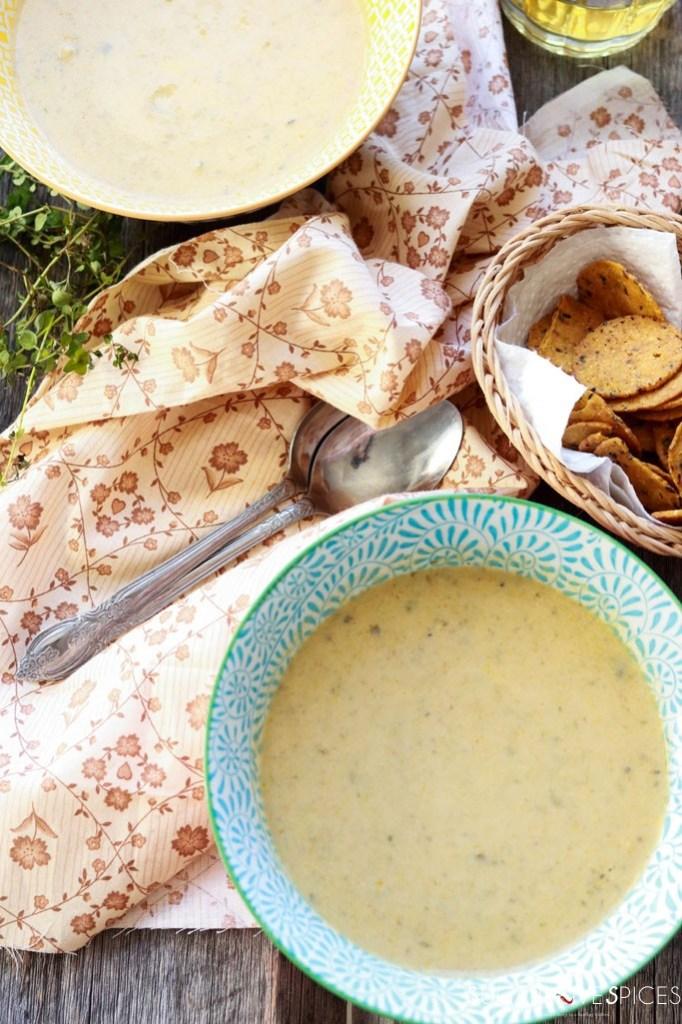 Cream of roasted cauliflower soup