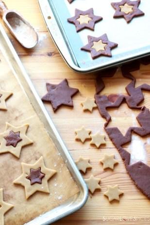 Orange and Chocolate Star Cookies-prep3