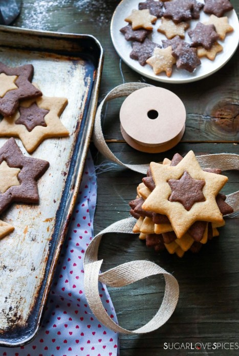 Orange and Chocolate Star Cookies2