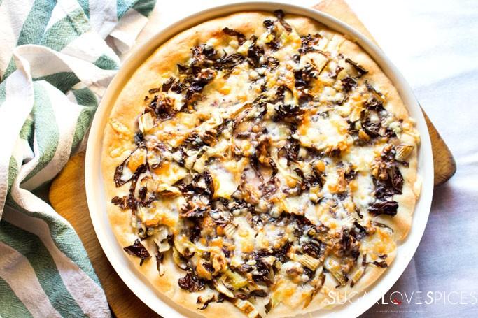 Pizza Radicchio Fontina and Walnuts