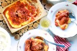 Polenta with Sausage and Rib in Tomato Sauce