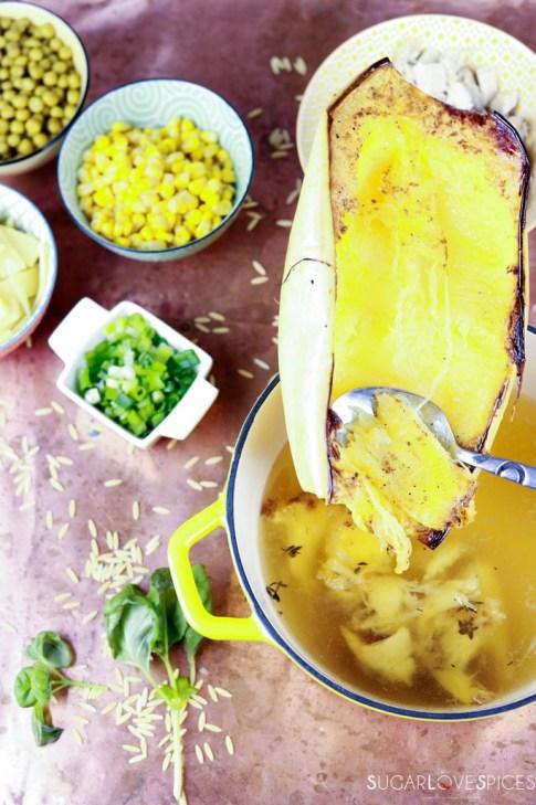 Thai- Inspired Spaghetti Squash Turkey Soup-bowl