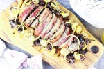 Mushroom Beef, Prosciutto Wrapped Polpettone