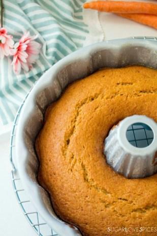 Italian Carrot Bundt Cake (Torta di Carote)-pan