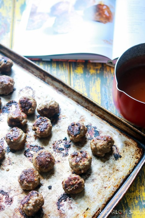 sweet and sour meatball-baked