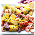 crab and shrimp boil-text on image