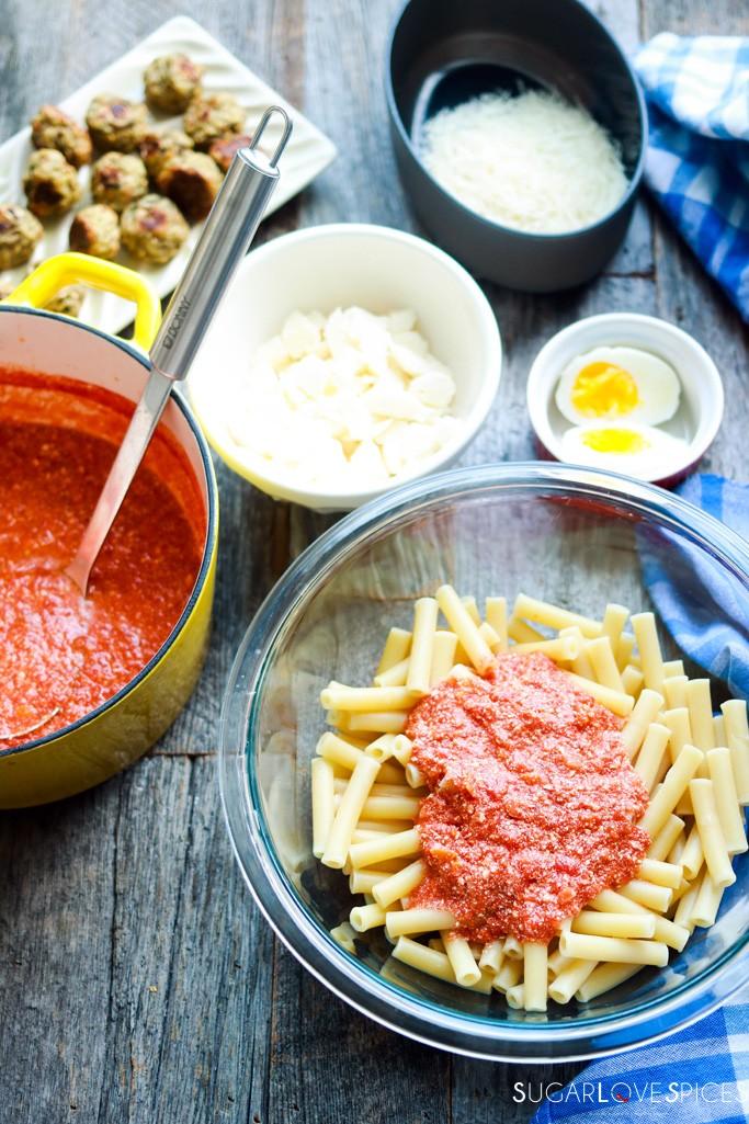 Italian Baked Ziti-the pasta and the sauce