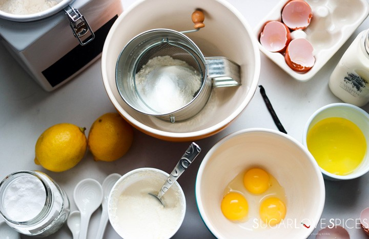 Lemon ricotta pancakes-ingredients