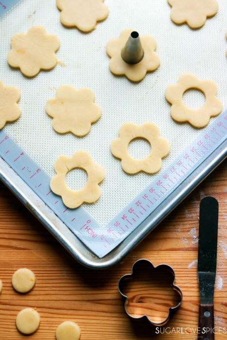 Ciambelline Sarde (Sardinian Sandwich Cookies)-making top cookies