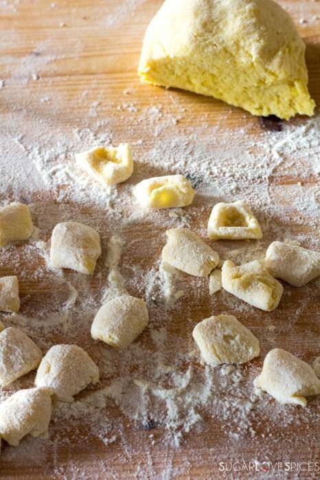 Homemade Potato Gnocchi-shaping gnocchi