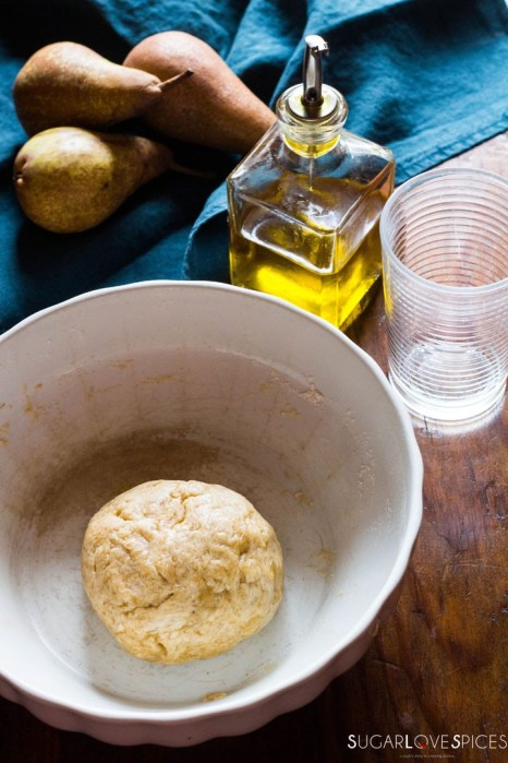 Rustic Pear & Hazelnut Vegan Galette-dough