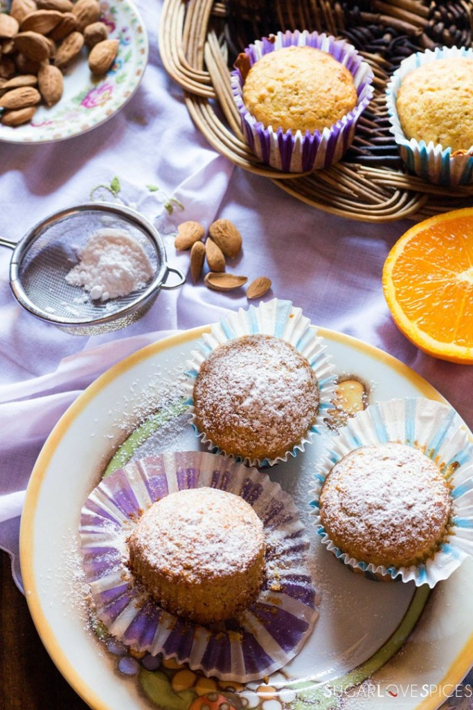 Easy Almond Orange Muffins-muffins in a plate