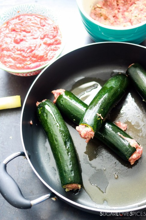 Italian Stuffed Zucchini in Tomato Sauce-stuffing