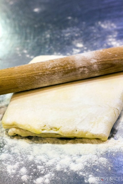 homemade puff pastry-stretching again