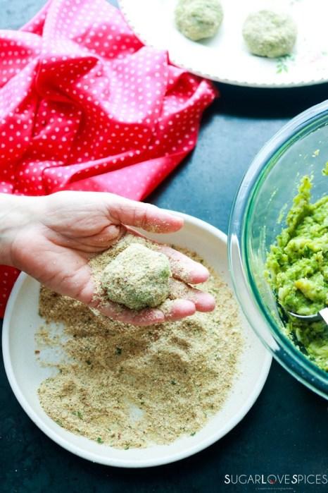 asparagus croquettes-making croquette