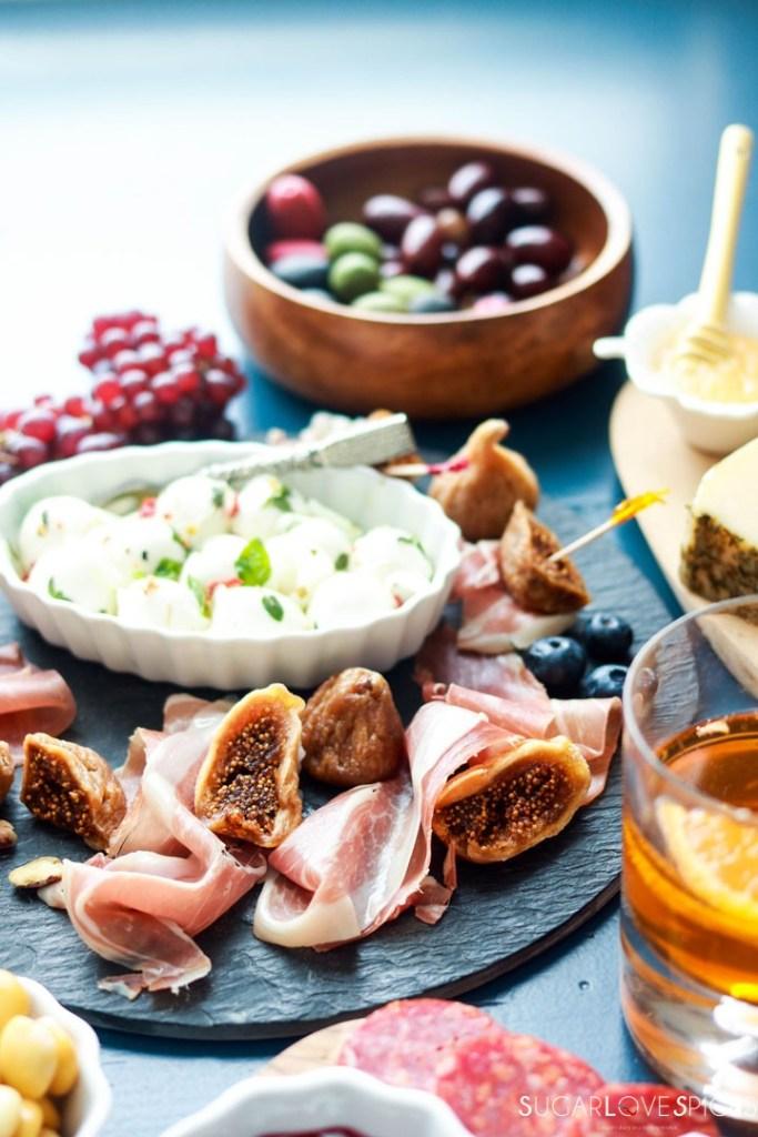 An Antipasto Story featuring Prosciutto-prosciutto e fichi board