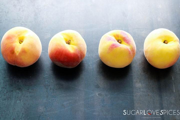 Spelt flour peach yogurt cake-4 peaches