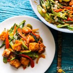 Laotian Sweet and Sour Tofu-feature-plate and pan
