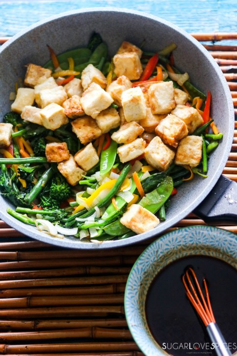 Laotian Sweet and Sour Tofu-in the pan-sauce