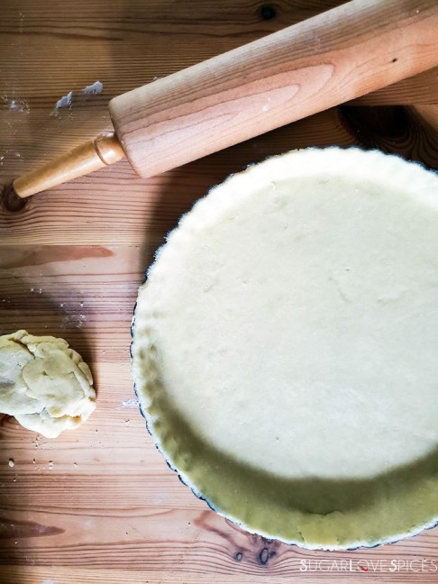 Savory Crostata with zucchini and prosciutto-prep-crust-leftover dough