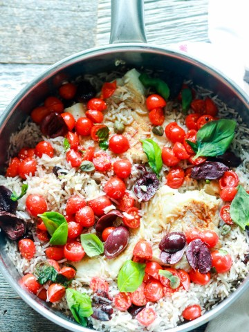 One pan rice and fish-in the pan-pinterest