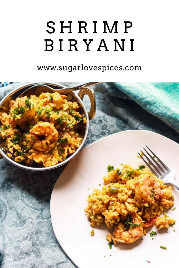 Shrimp Biryani-pinterest photo