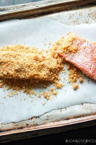 Sweet Chili Panko-crusted Salmon-prep-rubbing marinade